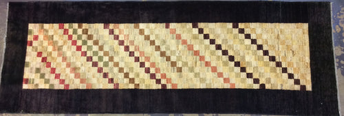 Contemporary 3 x 10 Multi-Color Rug #15446