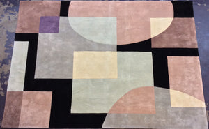 Contemporary 8 x 11 Multi-Color Discount Rug #36100