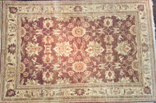 Load image into Gallery viewer, Oriental 6 x 9 Brown, Ivory Rug #60903
