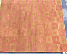 Load image into Gallery viewer, Contemporary 8 x 10 Gold, Pink Discount Rug #4521