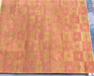 Contemporary 8 x 10 Gold, Pink Discount Rug #4521