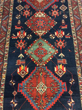 Load image into Gallery viewer, Oriental 4 x 16 Blue Rug #69832