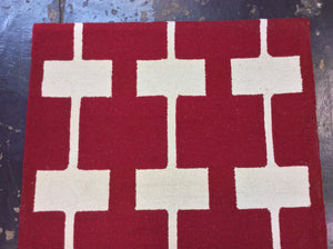 4 x 6 India Contemporary Red #67629