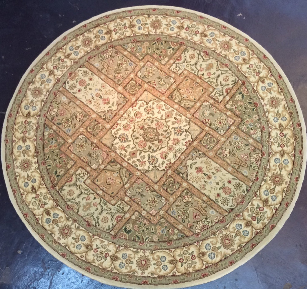 Traditional 6 x 6 Ivory Rug #56911