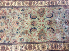 Load image into Gallery viewer, Traditional 3 x 10 Green, Ivory Rug #28952