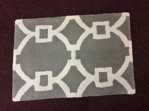 2 x 3 India Contemporary Grey Ivory #68479