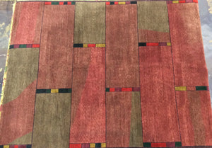 Contemporary 8 x 10 Multi-Color Discount Rug #46289