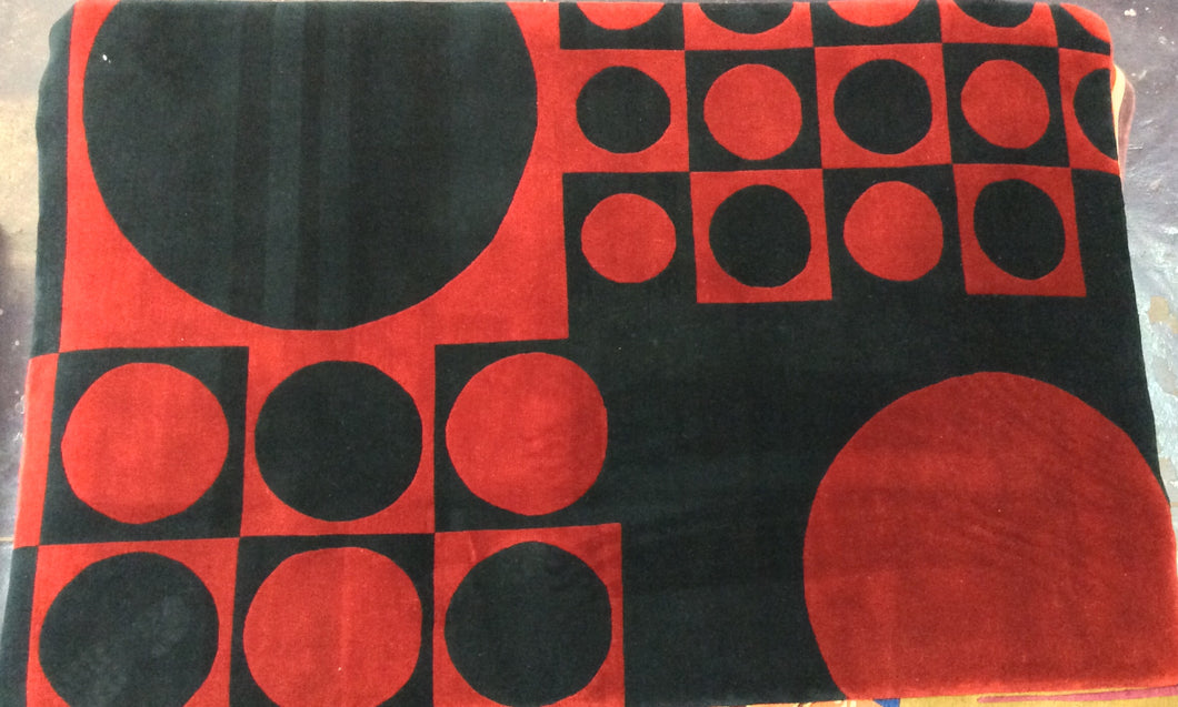 Contemporary 5 x 8 Red, Black Discount Rug #20190