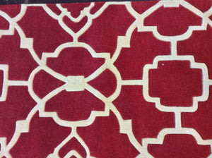 2'6 x 9 runner India Contemporary Red #74247