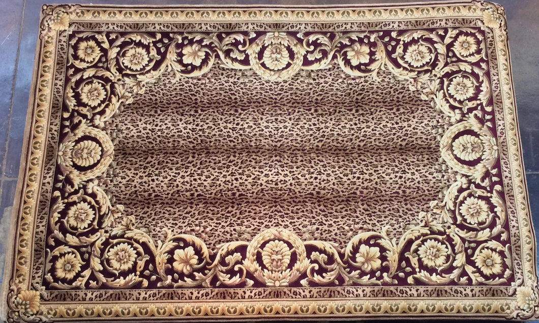 Traditional 6 x 9 Gold Rug #51059