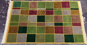 Contemporary 9 x 12 Multi-Color Discount Rug #53539