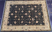 Load image into Gallery viewer, Traditional 9 x 12 Black Rug #49702