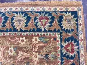 Traditional 8 x 10 Brown, Blue Rug #7279