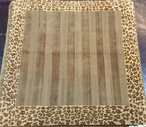 Contemporary 8 x 8 Gold Discount Rug #9403