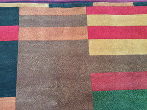 Contemporary 6 x 9 Multi-Color Rug #19298