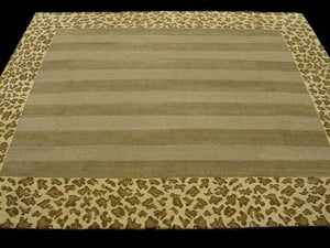 Contemporary 7 x 8 Gold Discount Rug #9403
