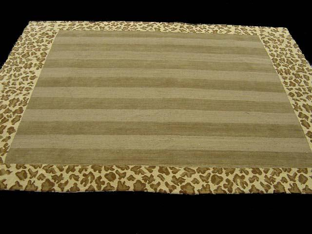 Contemporary 7 x 8 Gold Discount Rug #9404