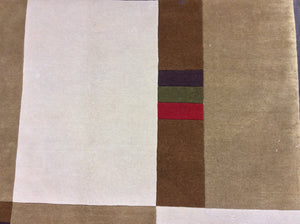 Contemporary 8 x 11 Beige Discount Rug #27545