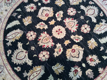 Load image into Gallery viewer, Oriental 6 x 6 Black, Gold Rug #31542