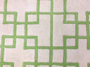 2 x 3 India Contemporary Green Ivory #68830