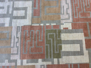 Contemporary 10 x 10 Multi-Color Rug #11594