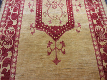 Load image into Gallery viewer, Traditional 4'10 x 9'8 Gold, Red Rug #25132