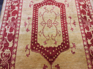 Traditional 4'10 x 9'8 Gold, Red Rug #25132