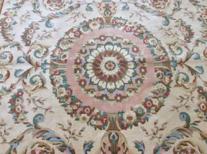 Oriental 9 x 12 Ivory, Gold Rug #1839