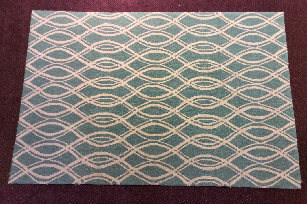 5 x 8 India Contemporary Blue #67345