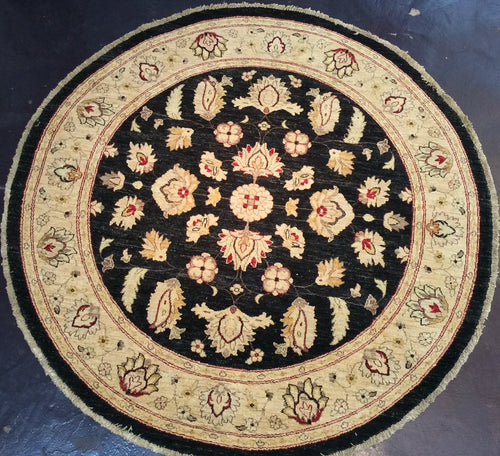 Traditional 6 x 6 Black, Gold Rug #31542