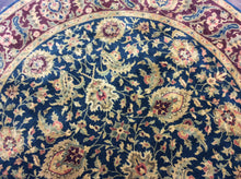 Load image into Gallery viewer, Oriental 8 x 8 Blue, Red Rug #9900