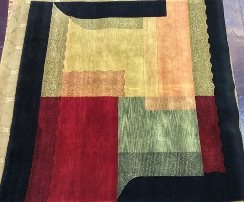 Contemporary 8 x 8 Multi-Color Discount Rug #51456
