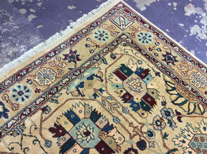 Traditional 9 x 12 Ivory, Multi-Color-Color Rug #7716