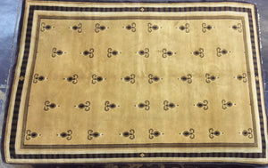 Contemporary 6 x 9 Beige Rug #6946