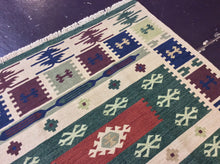 Load image into Gallery viewer, Kilim 6 x 9 Green, Multi-Color-Color Rug #19773
