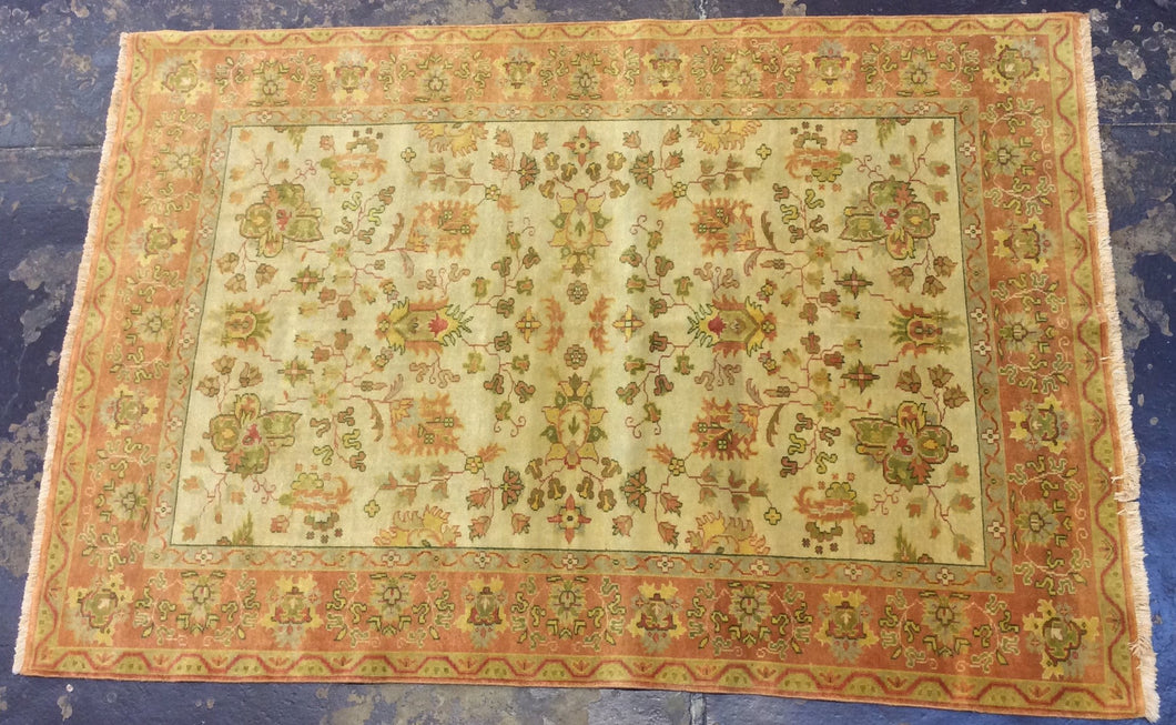 Traditional 6 x 9 Brown, Ivory Rug #6144