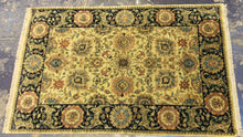 Load image into Gallery viewer, Oriental 6 x 9 Gold, Black Rug #524