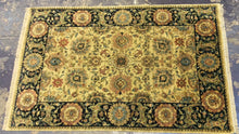Load image into Gallery viewer, Traditional 6 x 9 Gold, Black Rug #524