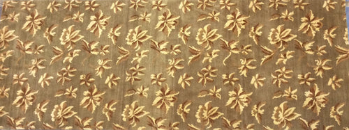 Contemporary 3 x 10 Brown Discount Rug #11579