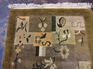 Contemporary 3 x 10 Brown Discount Rug #22566