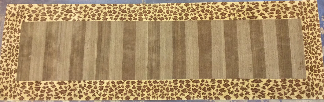 Contemporary 3 x 10 Brown Discount Rug #51196