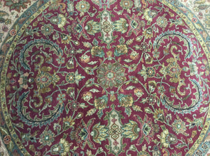 Traditional 8 x 8 Red, Beige Rug #26920