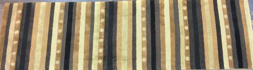 Contemporary 3 x 10 Brown Discount Rug #2831