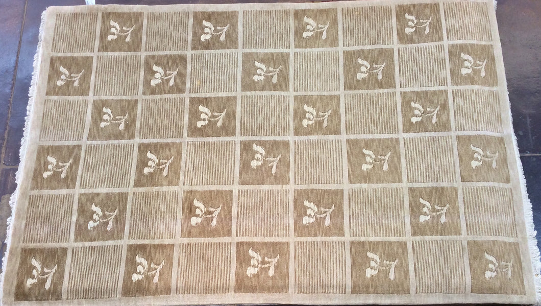 Contemporary 6 x 9 Beige Discount Rug #50938