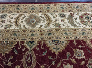 Traditional 12 x 18 Red, Ivory Rug #46272