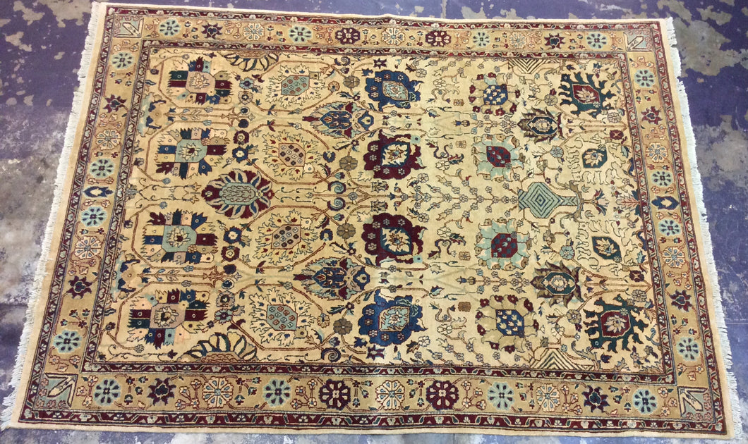 Oriental 9 x 12 Ivory, Multi-Color-Color Rug #7716