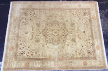 Load image into Gallery viewer, Oriental 9 x 12 Green, Brown Rug #1302