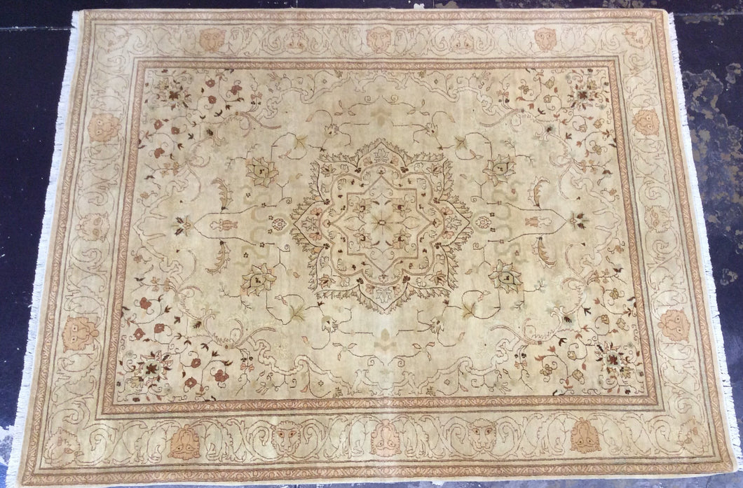 Traditional 9 x 12 Green, Brown Rug #1302