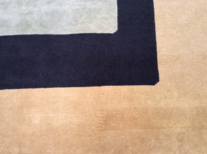 Contemporary 6 x 9 Multi-Color Rug #20752