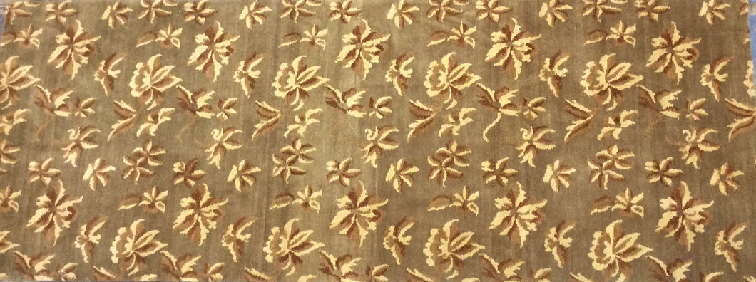 Contemporary 3 x 9 Brown Discount Rug #51199